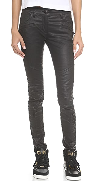 DKNY x Cara Delevingne Coated Moto Pants