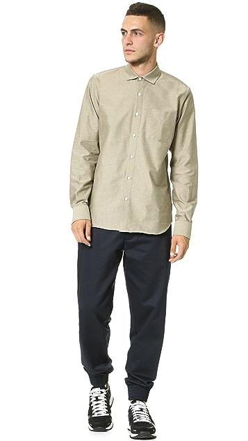 DDUGOFF Long Sleeve Oxford Shirt