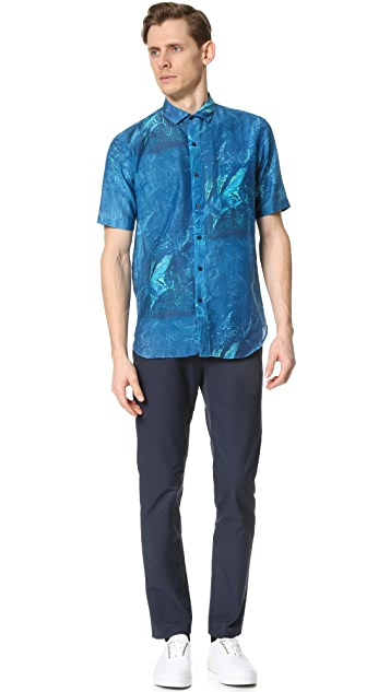 DDUGOFF Bag Print Short Sleeve Shirt