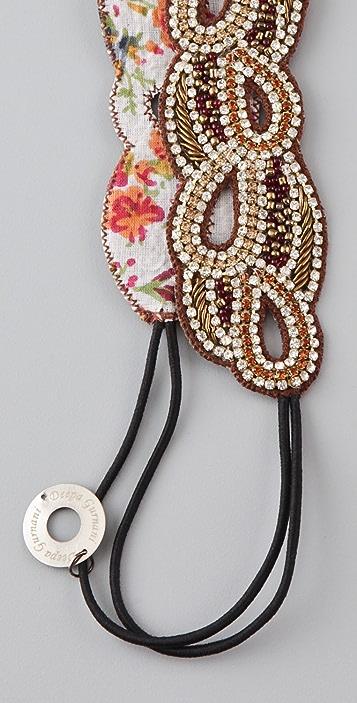 Deepa Gurnani Crystal Petal Headband
