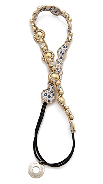 Deepa Gurnani Light Gold Pearlized Headband