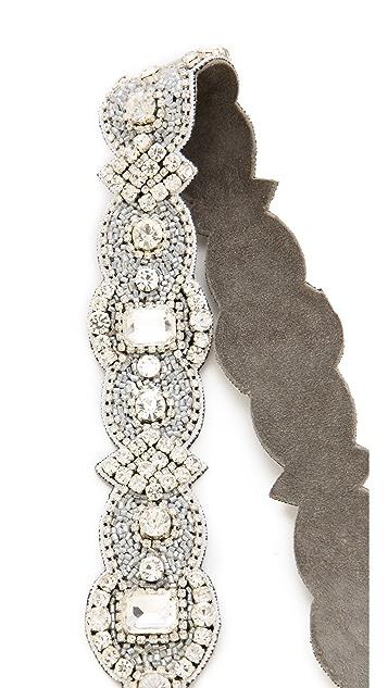 Deepa Gurnani Ivory Crystal Headband