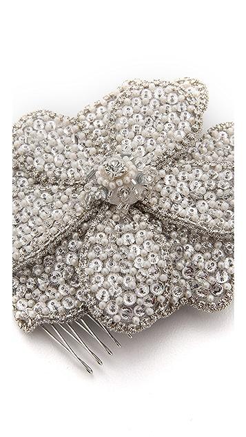 Deepa Gurnani Floral Crystal Embellished Comb