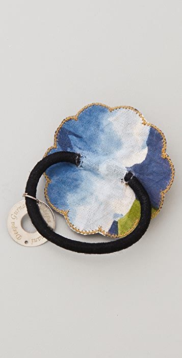 Deepa Gurnani Antique Gold Flower Hair Tie