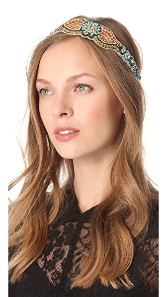 Deepa Gurnani Bright Bead & Crystal Headband