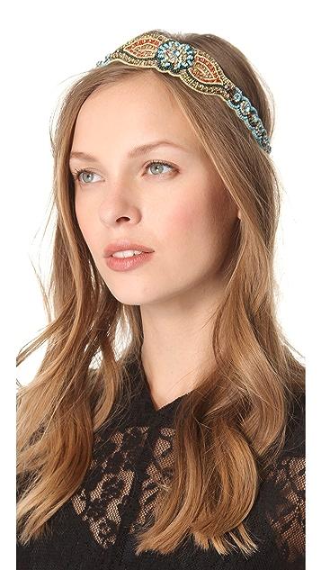 Deepa Gurnani Bright Bead & Crystal Headband