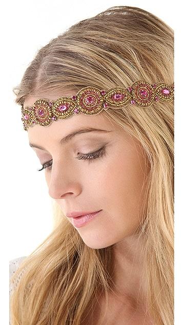 Deepa Gurnani Fuchsia Embellished Headband