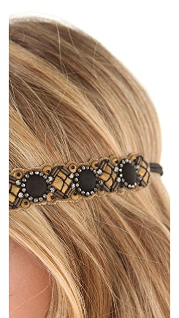 Deepa Gurnani Embellished Metallic Headband