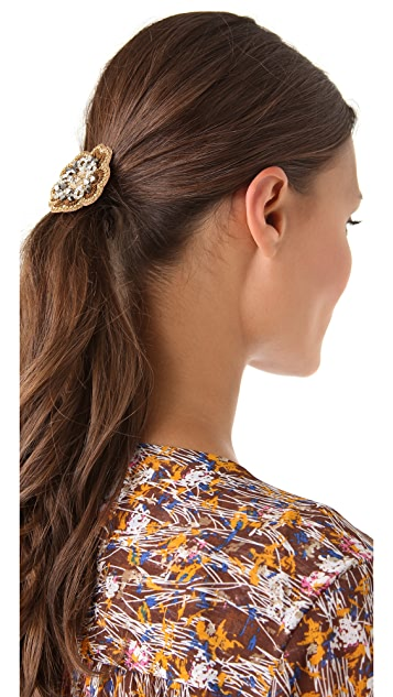 Deepa Gurnani Embellished Peony Hair Tie