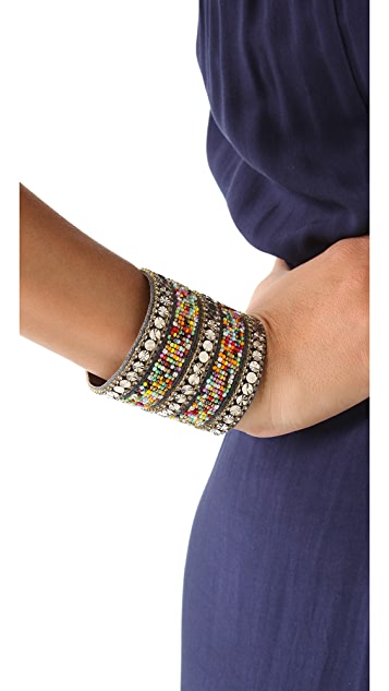 Deepa Gurnani Multicolor Beaded Cuff