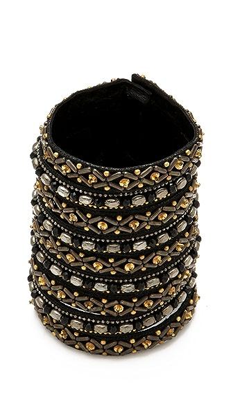 Deepa Gurnani Wide Patterned Cuff