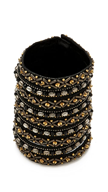 Deepa Gurnani Wide Patterned Cuff