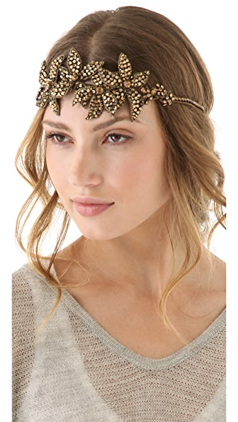 Deepa Gurnani Starfish Flower Crystal Headband