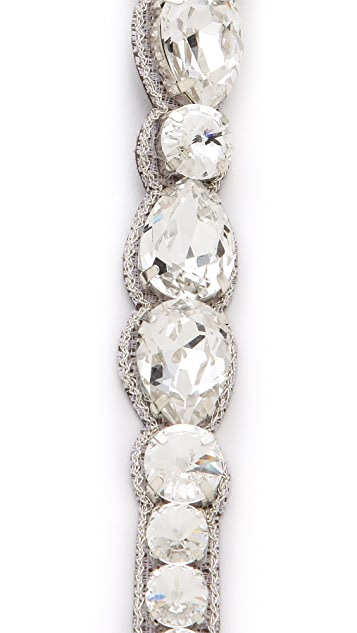 Deepa Gurnani Faceted Crystal Headband