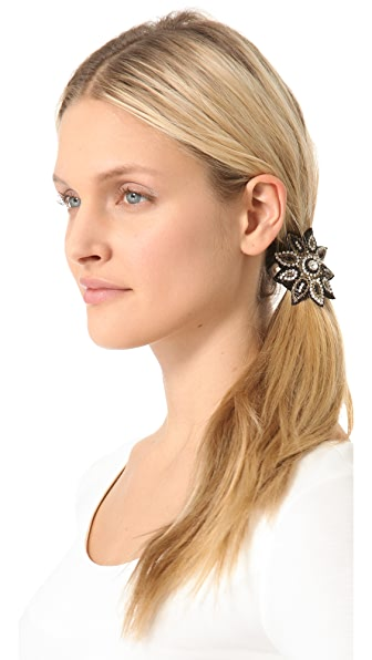 Deepa Gurnani Sunflower Applique Hair Tie