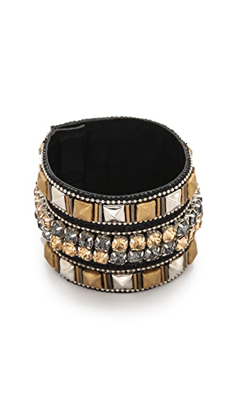 Deepa Gurnani Mixed Metals Stacked Cuff