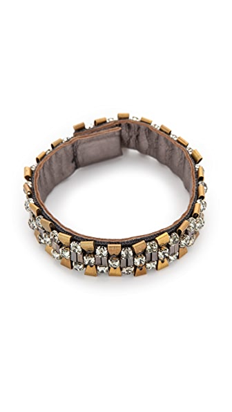 Deepa Gurnani Two-Tone Metallic Cuff