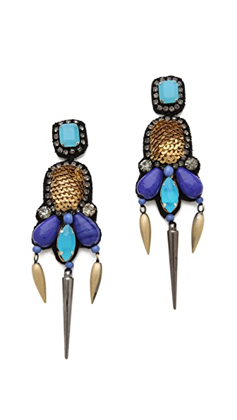 Deepa Gurnani Embellished Chandelier Earrings