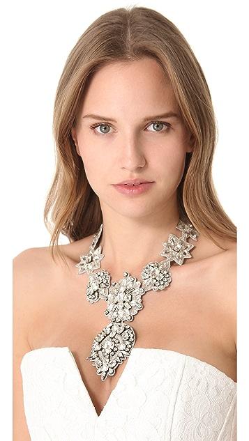Deepa Gurnani Crystal Applique Statement Necklace