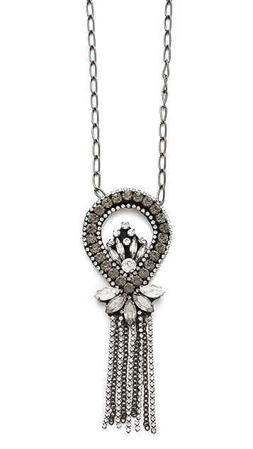 Deepa Gurnani Chandelier Pendant Necklace