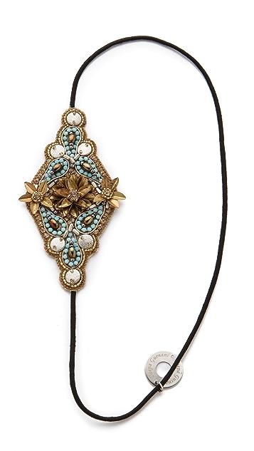 Deepa Gurnani Gold & Turquoise Applique Headband