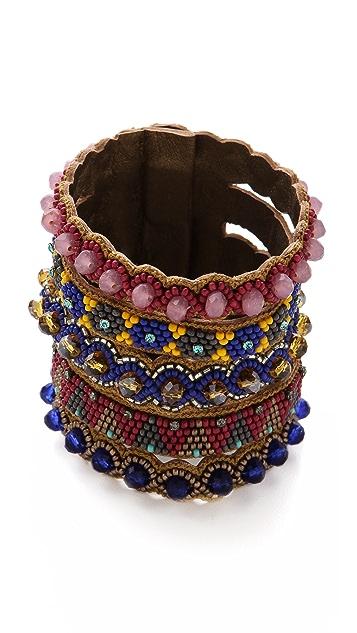 Deepa Gurnani Tribal Stacked Cuff