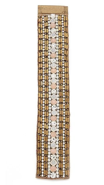 Deepa Gurnani Embellished Metallic Cuff