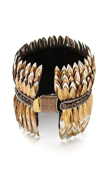 Deepa Gurnani Metallic Petal Cuff