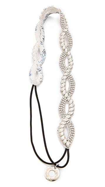 Deepa Gurnani Braided Crystal Headband