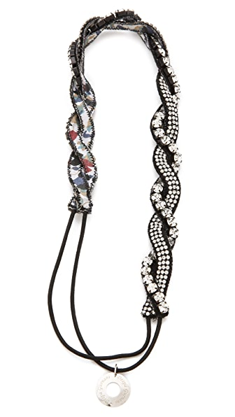 Deepa Gurnani Small Braided Crystal Headband