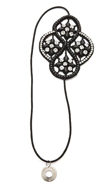 Deepa Gurnani Crystal Applique Headband