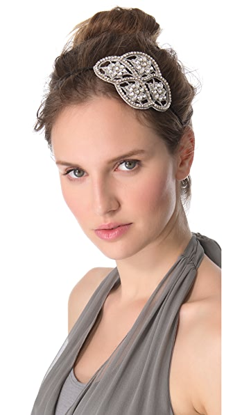 Deepa Gurnani Crystal Applique Headband