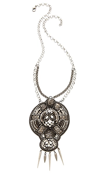 Deepa Gurnani Large Pendant Necklace