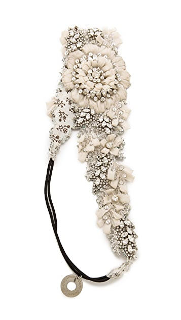 Deepa Gurnani Crystal Floral Headband