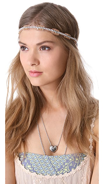Deepa Gurnani Crystal Rectangle Headband