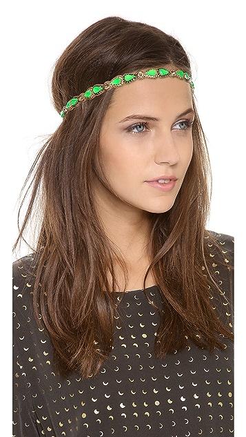 Deepa Gurnani Teardrop Gem Headband