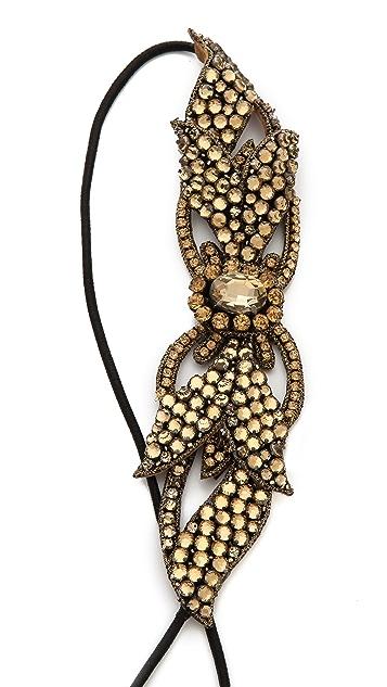 Deepa Gurnani Crystal Detail Headband