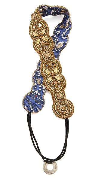 Deepa Gurnani Circular Crystal Headband