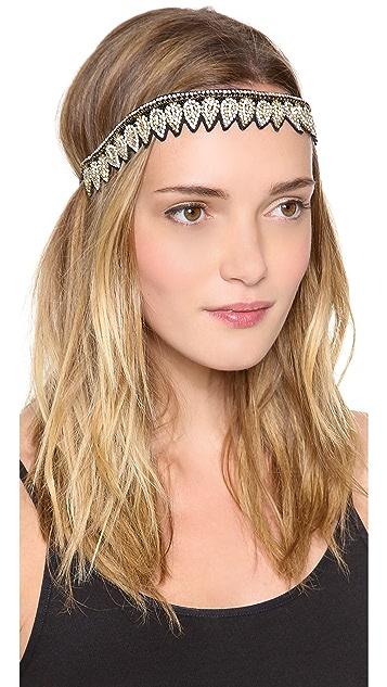 Deepa Gurnani Crystal Teardrop Headband