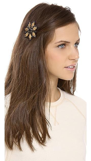 Deepa Gurnani Flower Stone Hair Clip