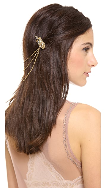Deepa Gurnani Draped Hair Clips