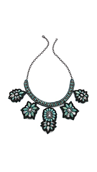 Deepa Gurnani Floral Statement Necklace
