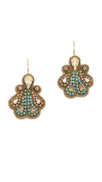 Deepa Gurnani Crystal Swirl Earrings