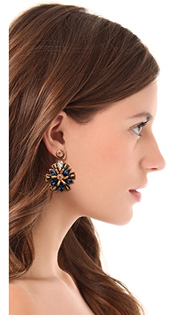 Deepa Gurnani Firework Crystal Earrings
