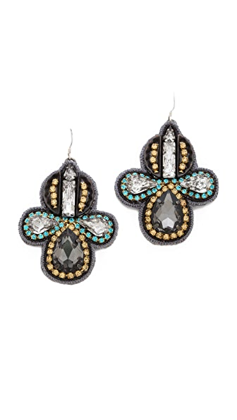 Deepa Gurnani Two Tone Crystal Earrings