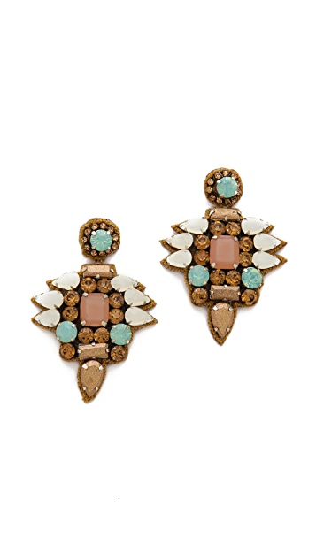 Deepa Gurnani Teardrop Stone Earrings