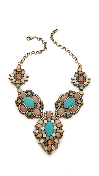 Deepa Gurnani Colorful Stone Necklace