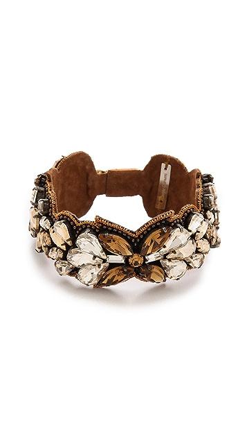 Deepa Gurnani Crystal Cuff Bracelet