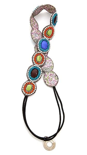 Deepa Gurnani Colorful Beaded Headband