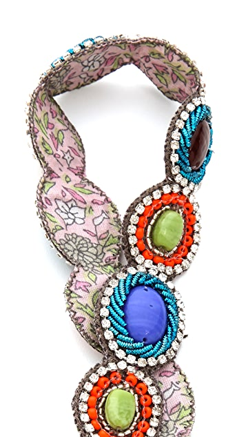 Deepa Gurnani Colorful Beaded Headband